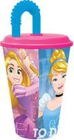 Plastový téglik so slamkou Princezná 430ml