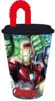 Plastový téglik so slamkou Avengers 430ml