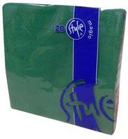 Obrúsky 2-vrstvové St. Magic,  tmavo zelené, 20 ks
