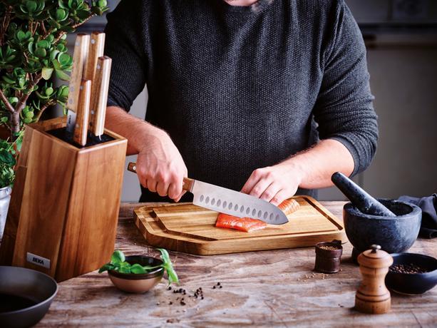 Drevený blok na nože BEKA Nomad + 5 nožov
