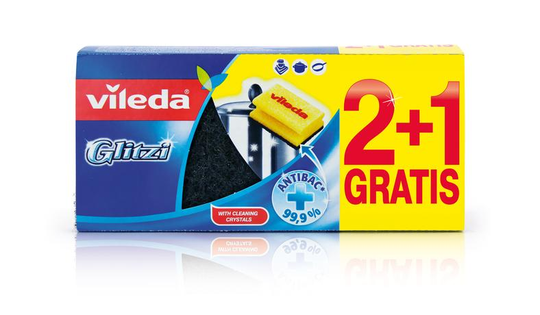 Hubka na riad VILEDA Glitzi 2+1ks