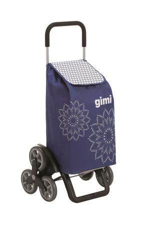 vileda Gimi Tris Floral nákupná taška na kolieskách modrá 56 l