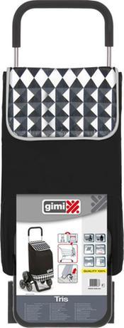 vileda Gimi Tris Optical nákupná taška na kolieskách čierna 56 l