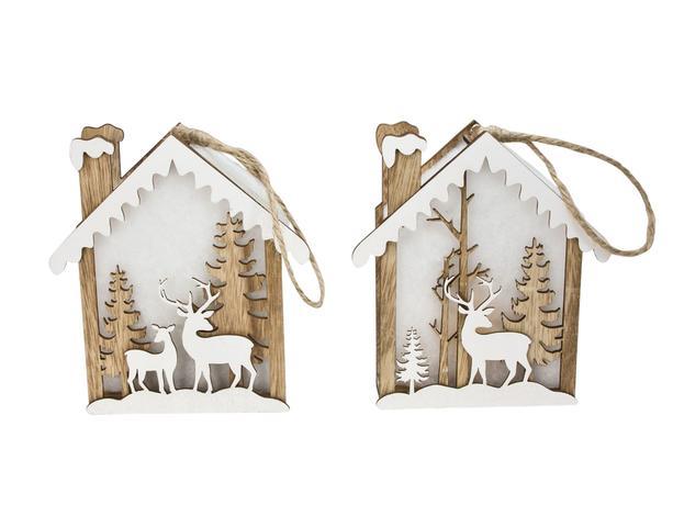 Svietiaca dekorácia LED vianočný domček