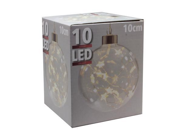 Gule vianočné s 10 LED hviezdičkami, priemer ...