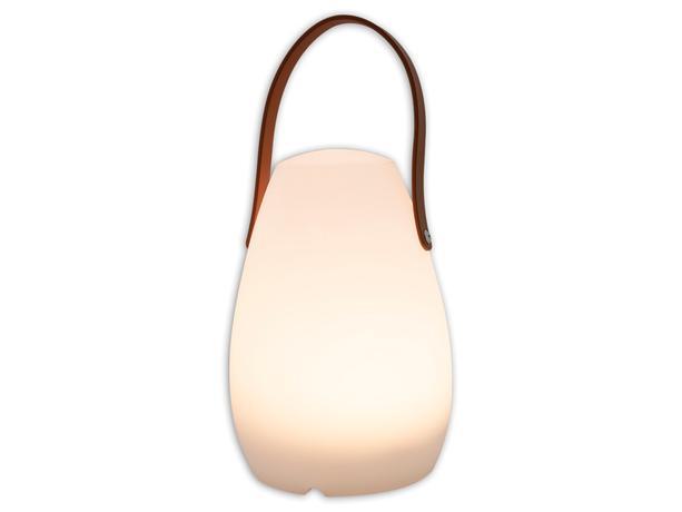 LED Lampa 20cm kožená rukoväť