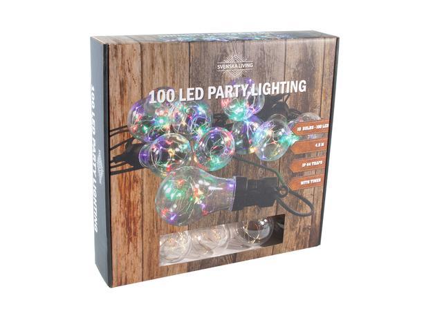 Party osvetlenie 10x dúhová gule s časovačom ...