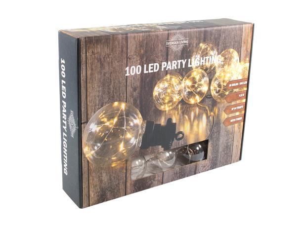 Party osvetlenie 10x gule s časovačom 100LED ...
