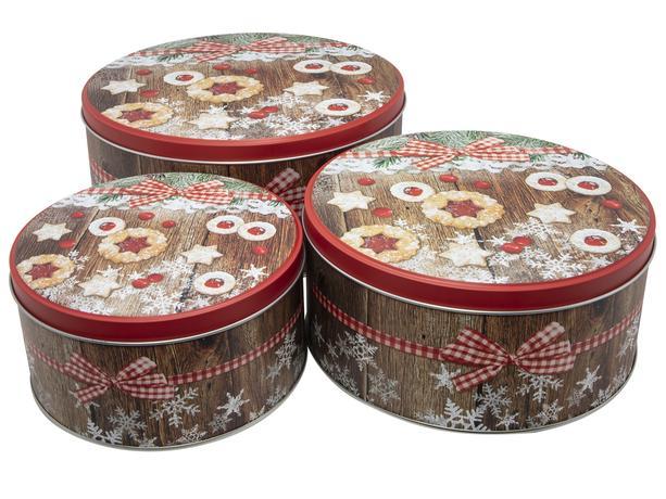 Dóza na vianočné pečivo 3ks