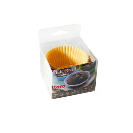 TORO Silikónové košíčky na muffiny 6ks TORO 7cm