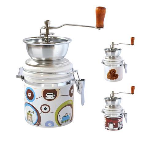TORO Mlynček na kávu, porcelán / nerez, motív kávy
