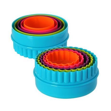 TORO Plastové vykrajovače na cukrovinky, 5 ks, kolieska