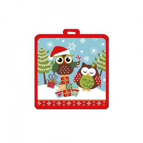 Kuchynská chňapka, malá, dekor vianočná sova