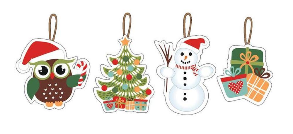Vianočné ozdoby 7-8 cm, 12 ks