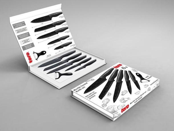 Sada nožov 5 ks + škrabka