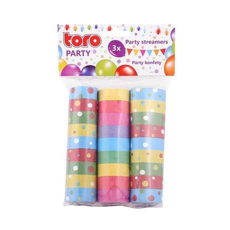 TORO Konfety papierové, farebné, 3 sety