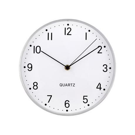 TORO Nástenné hodiny TORO 25cm strieborné