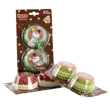 TORO Formičky na muffiny, vianočný dekor, papier, 100 ks
