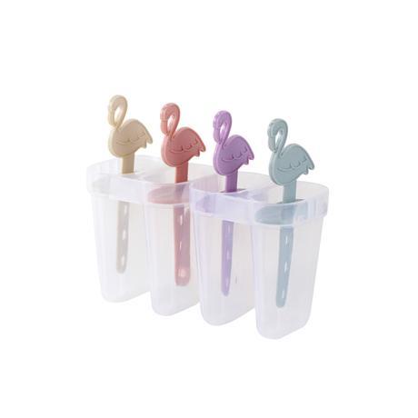 TORO Plastové tvorítko na zmrzlinu TORO plameniak 4ks