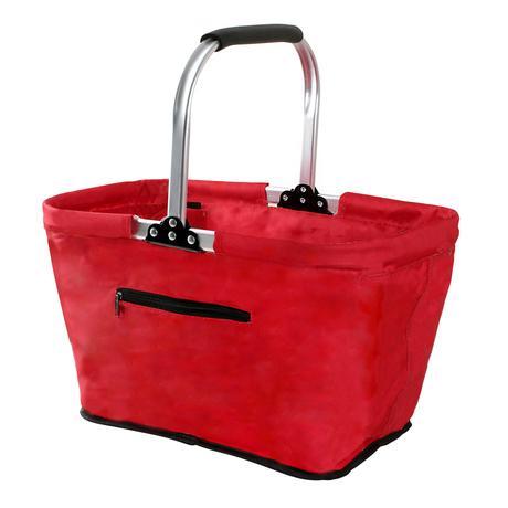 TORO Skladací nákupný košík TORO červený