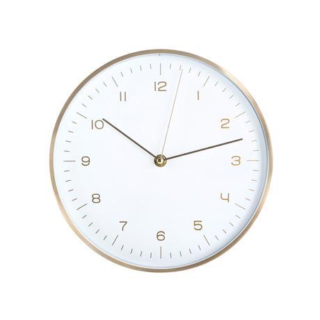 TORO Nástenné hodiny TORO 24,8cm biele, zelené