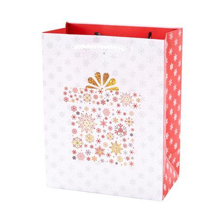 Papierová dárčeková taška TORO 23x18x10cm kve...