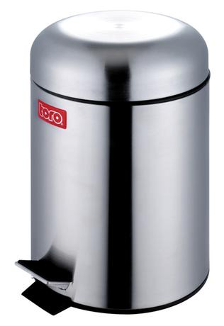 TORO Nerezový nášľapný kôš na odpadky TORO Retro 3l
