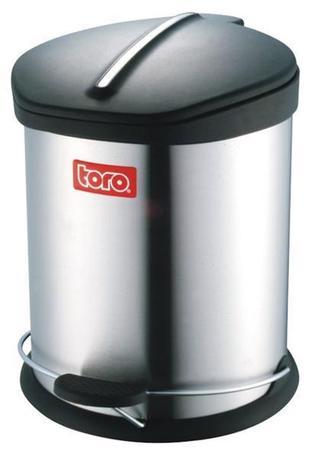 Nerezový nášľapný kôš na odpadky TORO 20l