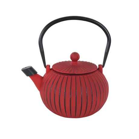 TORO Liatinová kanvica na čaj TORO 1,15l červená