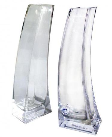 TORO Váza sklenená číra 6 x 10 x 30 cm