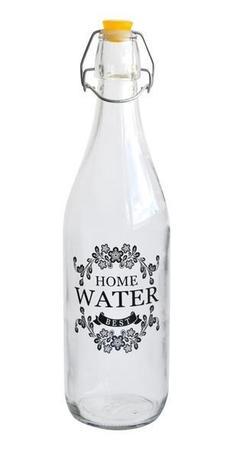 Fľaša sklenená s uzáverom, 950 ml, potlač