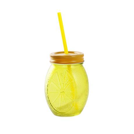 Poháre so slamkou Toro citrón 450 ml