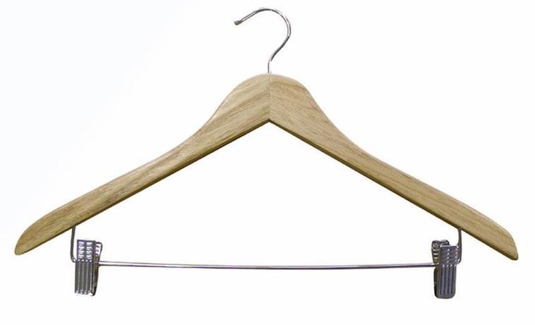 Drevené ramienko na šaty a nohavice TORO