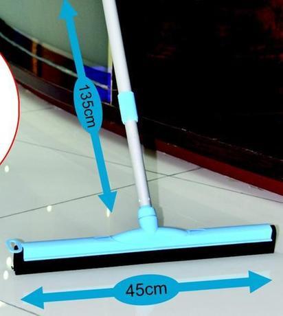 TORO Stierka na podlahu s gumou a teleskopickou tyčou, 135 cm