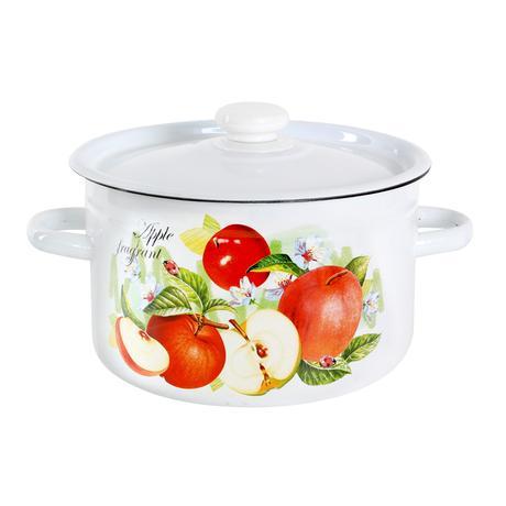 TORO Smaltovaný hrniec s pokrievkou 4,5l ovocie