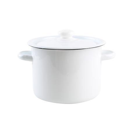 TORO Smaltovaný hrniec s pokrievkou 4,5l biely