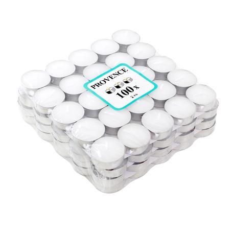 Čajová sviečka PROVENCE 100ks biela