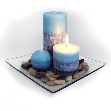 Darčekový set 3 sviečky, vôňa čučoriedka, na ...