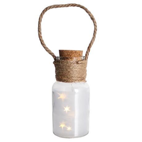 Dekoračná fľaša 5 LED PROVENCE Veselé Vianoce