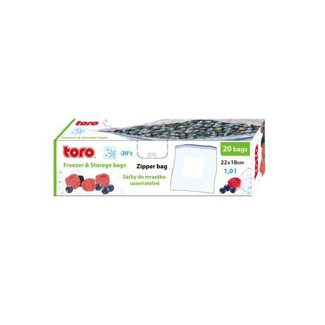 TORO Vrecká na potraviny TORO 20ks 1l