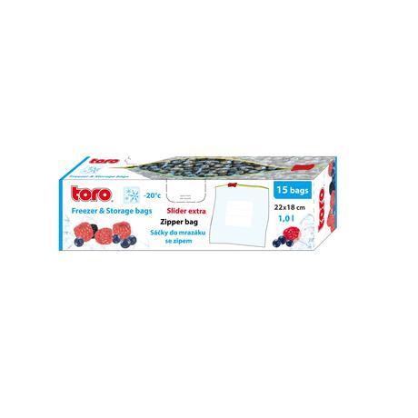 TORO Vrecká na potraviny TORO 15ks 1l