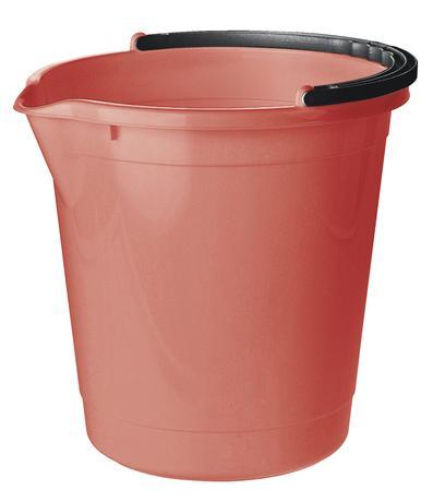 Tontarelli Plastové vedro s výlevkou TONTARELLI 7l červený