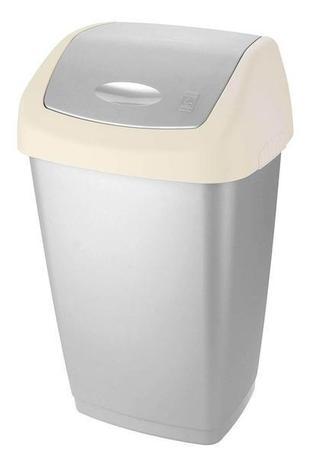 Tontarelli Plastový kôš na odpadky TONTARELLI Aurora 25l šedobiely