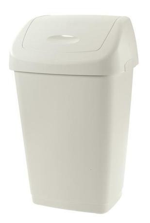 Tontarelli Plastový kôš na odpadky TONTARELLI Aurora 25l biely