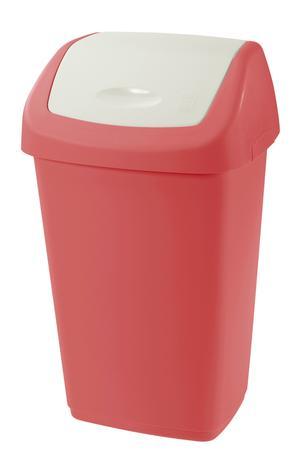 Tontarelli Plastový kôš na odpadky TONTARELLI Aurora 25l červenobiely