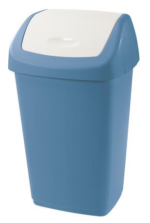 Tontarelli Plastový kôš na odpadky TONTARELLI Aurora 25l modrobiely
