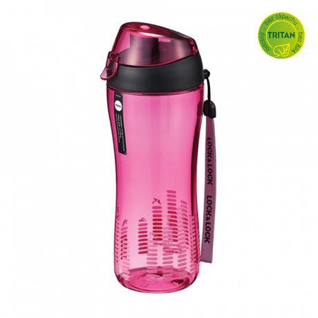 Športová fľaša na pitie Lock 550 ml, ružová