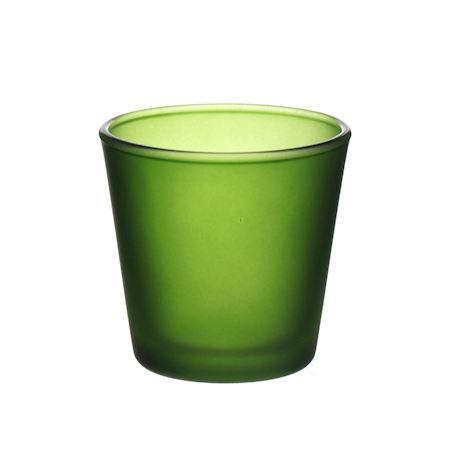 DUIF Sklenený svietnik na čajovú sviečku DENVER 7,5cm zelený