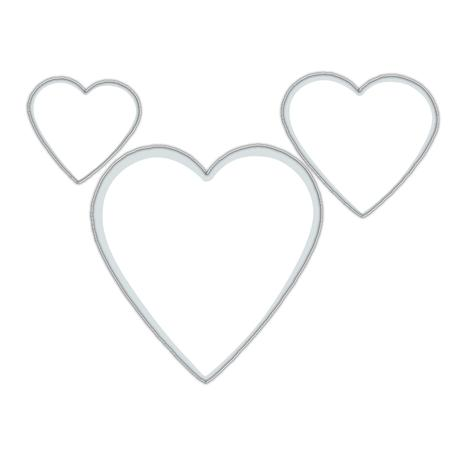 Felcman Sada formičiek, tvar srdiečka, 3 ks