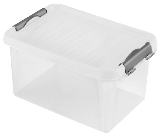 heidrun Plastový úložný box s vekom HEIDRUN Clip box 8l